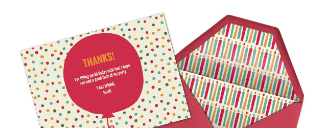Matching Kids' Thank You Cards
