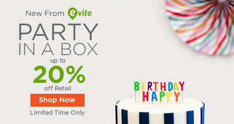Limited Time Offer: Evite Party in a Box