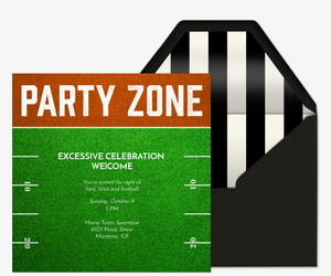 Party Zone Invitation
