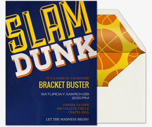 Slam Dunk Invitation