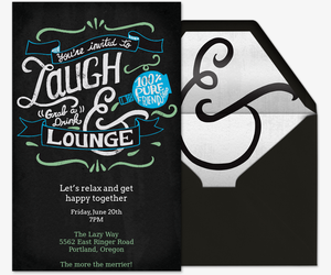Laugh and Lounge Invitation
