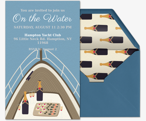 Beach Yacht Deck Invitation