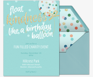 Kindness Balloon General Invite Invitation