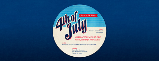 4th of July Coaster Invitation