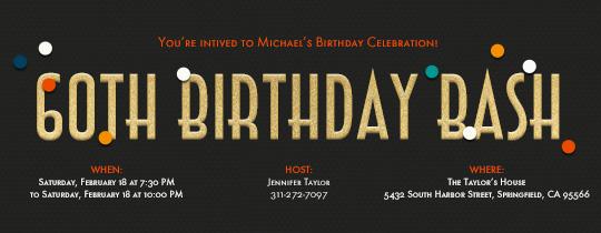 60, 60th, 60th birthday, confetti, birthday bash,