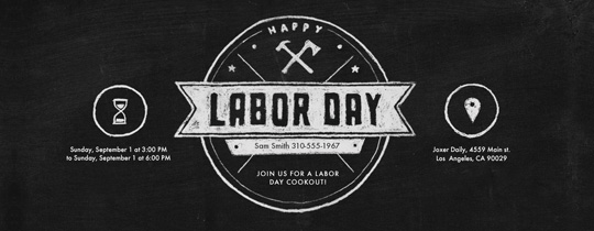 axe, hammer, labor day, chalk, chalk board