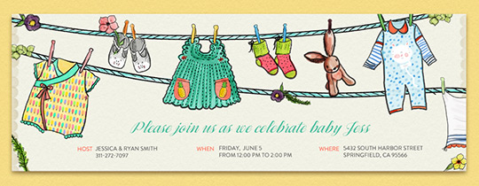 Baby Laundry Invitation
