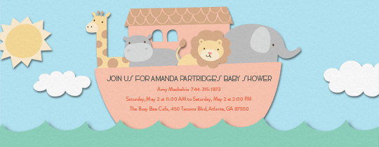 baby, baby shower, giraffe, giraffes, animal, animals, hippo, elephant, lion, sun, boat, water,