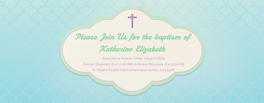 Baptism Cloud Invitation