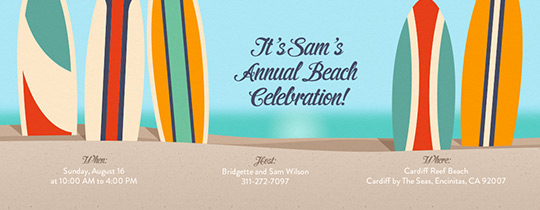 Beach Break Invitation