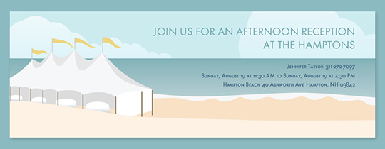 Beach Event Tent Invitation