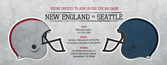 super bowl, super bowl party, football, sports, helmets, new England, Patriots, Seahawks, Seattle, superbowl, watch the game, viewing party,