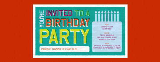 Birthday Block Invitation