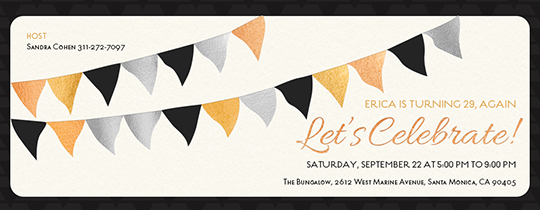 Birthday Bunting Invitation