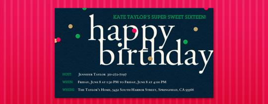 bday, birthday, confetti, pink, girls birthday, sweet 16, sweet sixteen, sixteen, 16