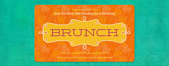 Botanical Brunch Invitation