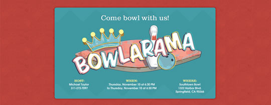 Bowlarama Invitation