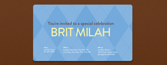 bris, brit milah, jew, jewish, argyle, blue, brown, first birthday, 1st birthday,