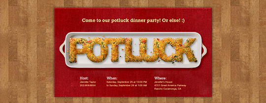 Easy recipes for thanksgiving potluck flyer