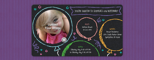Chalk Balloons Invitation