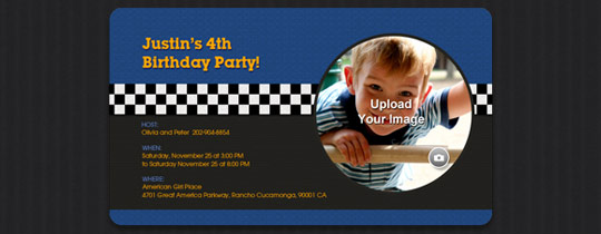 Checkered Flag Invitation