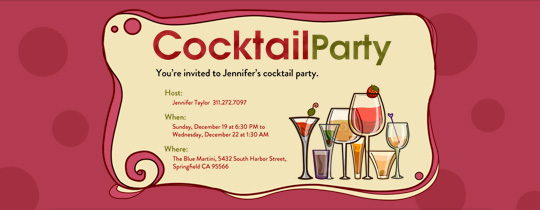 Cocktail Dots Invitation