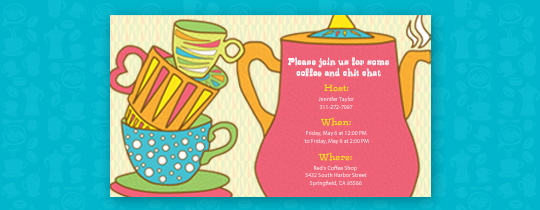 Coffee Pot Invitation