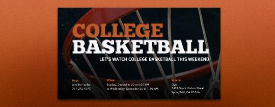 College Basketball Invitation