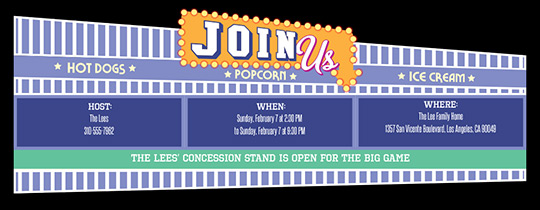 Concession Stand Invitation