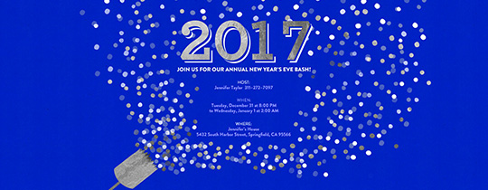 New Year's Eve free online invitations