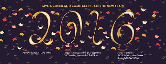 new year, new year's eve, new year's eve party, confetti, 2015,