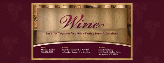 Corks Invitation