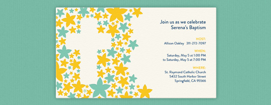 Cross Outline Invitation