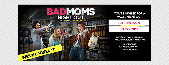 Mom's Night Out Invitation