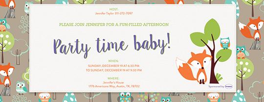 Party Time Baby Invitation