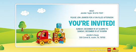 Toy Food Truck Invitation