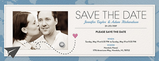 Destination Save the Date Invitation