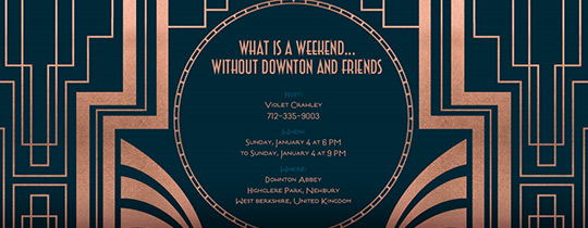 downtown, girls night out, downton abbey, tv show, viewing party, tv series, premiere party,
