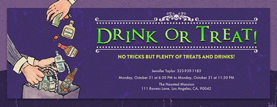 Drink or Treat Invitation