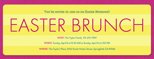 brunch, easter