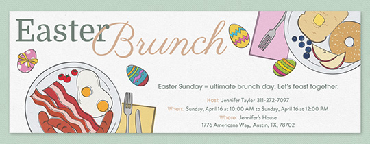 Easter Feast Invitation