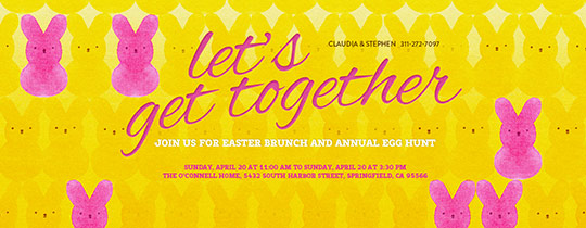 Easter, Peeps, Candy, Brunch, Egg Hunting, Yellow, Pink, Bunnies
