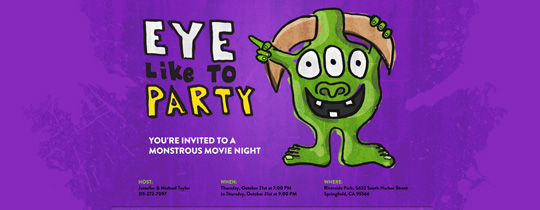 Eye Monster Invitation