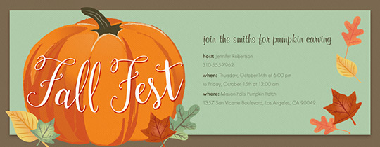 Fall Fest Invitation