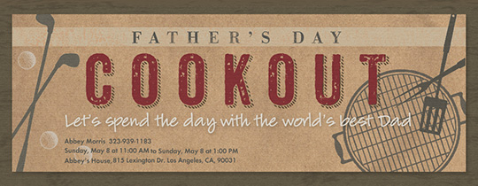 Father's Day Cookout Invitation