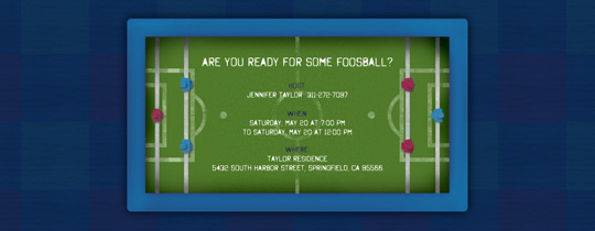 Foosball Invitation