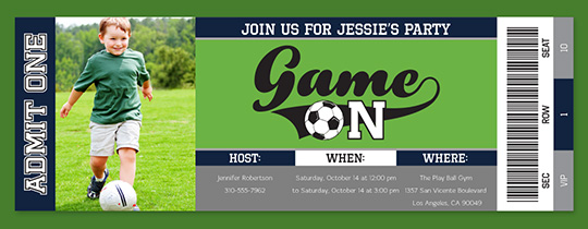 Game on Soccer Invitation