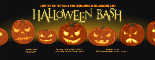 Glowing Pumpkins Invitation