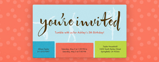 Gymnasts Invitation