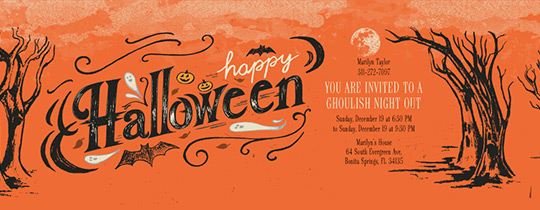 Halloween Atmosphere Invitation